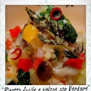 レンジで作る野菜のリゾット