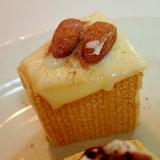 チーズとアーモンドのシナモン香る焼きバームクーヘン