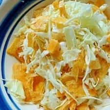 キャベツとポテトチップスの簡単サラダ