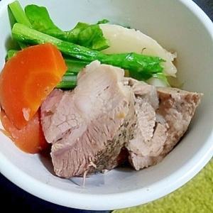 炊飯器で豚肩肉の煮込み