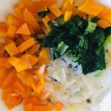 ⁑離乳食カミカミ期⁑小松菜とにんじんのもやしサラダ