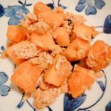 かぼちゃとツナの炒め物