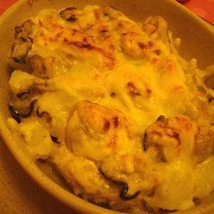 ソースを作らない牡蠣マカロニグラタン