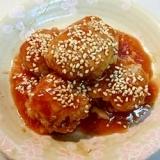 タジン鍋で煮る!豚肉の甘酢団子