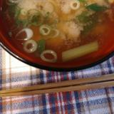 お味噌汁☆小松菜とちくわ