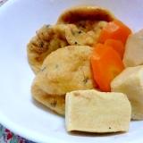 がんもと高野豆腐と人参の炊き合わせ