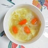 柔らかくて、美味しい♪キャベツと玉葱のスープ