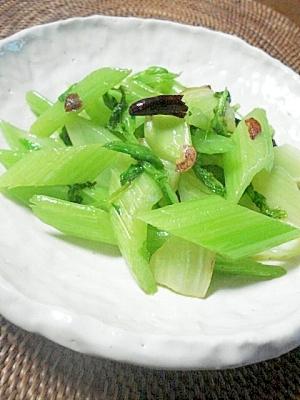 ペペロン風セロリの炒め物