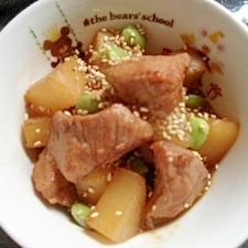 ごはんに合う 大根と豚肉の味噌煮