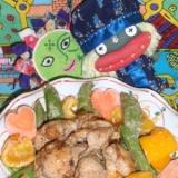 鶏肉とスナップエンドウの胡麻マヨ炒め