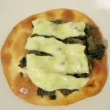 蕗の薹のピザ