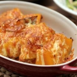 かぼちゃの煮物リメイク!チーズ焼き