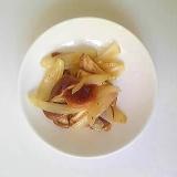 椎茸と玉ねぎのマヨネーズ炒め