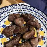 イノシシ肉のオリーブオイル焼き
