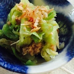 キャベツとツナの和風サラダ