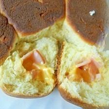 ハムとチーズのフライパンでパン