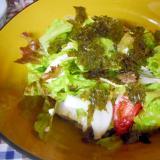 水きり豆腐と新玉マリネのサラダ