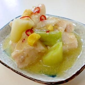 超簡単でおいしい 鶏ムネ肉のコーンスープ煮