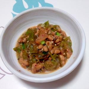 めかぶと納豆のゆかり和え++