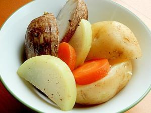 +ココナッツオイル❤2種の芋のヘルシー野菜蒸し♪
