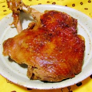 華味鳥の骨付きもも肉の味噌漬け焼き