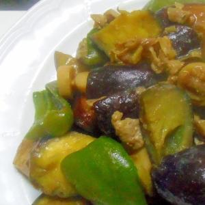 豚ばら肉と茄子の味噌炒め
