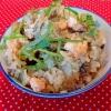 秋鮭ときのこの炊き込みご飯♪