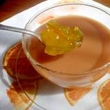 プーアール茶でマーマレードミルクティー風☆