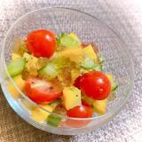 ひんやり.*・゚ズッキーニの夏野菜キラキラサラダ