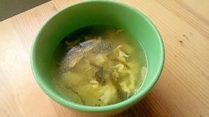 包丁要らず!高菜と卵のふんわり中華スープ