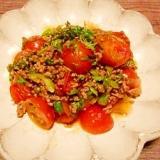 ミニトマト☆挽き肉炒め