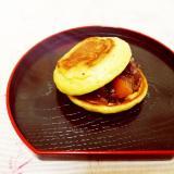 卵1/2個♪どら焼き風ヘルシーパンケーキ