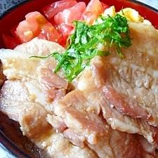 豚バラ甘煮丼☆