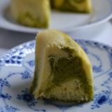 *レンジで簡単☆HMでバニラと抹茶のマーブルケーキ