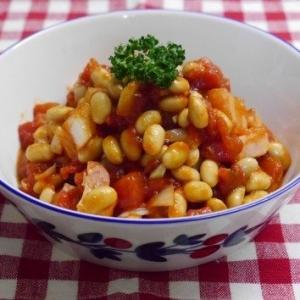 シンプルで美味しい✩大豆のトマト煮