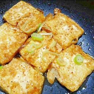 水切り豆腐の照り焼き