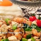 お豆腐とえびde☆ガパオライス