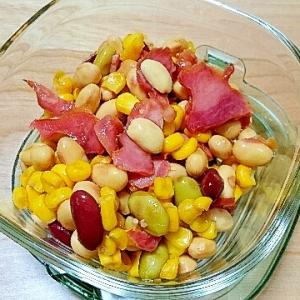 カフェ風!!豆とコーンのサラダ