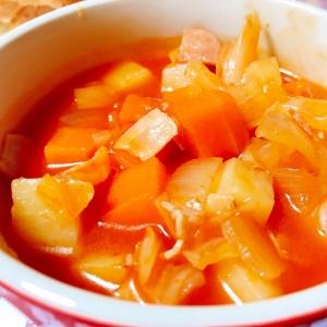 トマトジュースでミネストローネ風