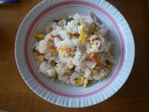 塩鮭の炒飯