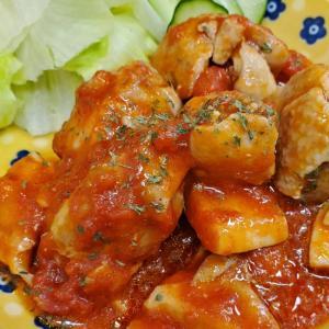 簡単!チキンのトマト煮♡