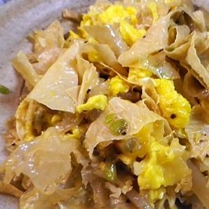 湯葉白きくらげ搾菜のオイスター炒め