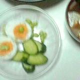 さっぱり茹で卵と枝豆きゅうりサラダ
