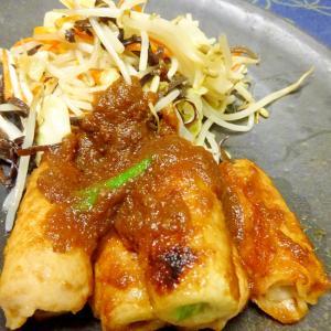 ■10分で..シャキシャキ野菜炒めと竹輪肉巻き