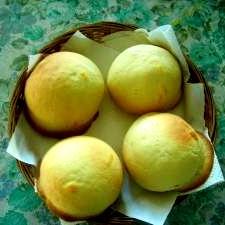 メロンパン形のりんごパン