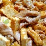 豚肉と厚揚げの生姜味噌炒め★簡単です!