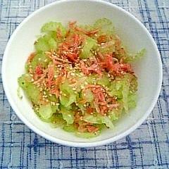 桜えびとセロリのサラダ