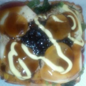 月見カボチャ&りんごサラダチーズトースト