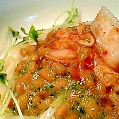 きゅうりおろしde納豆キムチうどん