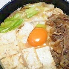 牛鍋 ~レトルト牛丼で簡単に~